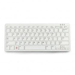 Klawiatura przewodowa USB dla Raspberry Pi 4B/3B+/3B/2B oficjalna - czerwono-biała