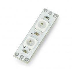 Moduł Pixel x2 z adresowanymi diodami LED RGB WS2812B 5050 - 28mm
