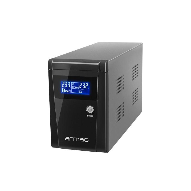 Zasilacz awaryjny UPS Armac Office 1000E LCD - 3 x gniazdo E -