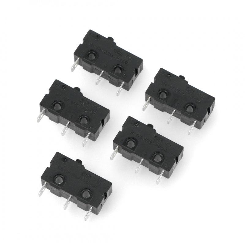 Wyłącznik czujnik krańcowy mini - WK607 - 5 szt.