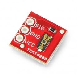 TEMT6000 - analogowy czujnik natężenia światła otoczenia - moduł SparkFun BOB-08688