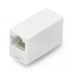 Złącze do łączenia kabli sieciowych RJ45 / 8P8C - białe