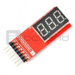 Wskaźnik napięcia LiPo LCD...