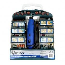 Miniszlifierka 270W z osprzętem - 300 elementów - Geko G81220