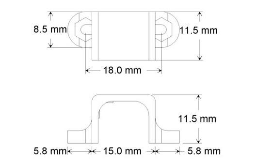 Wymiary mococwania do silnika Pololu
