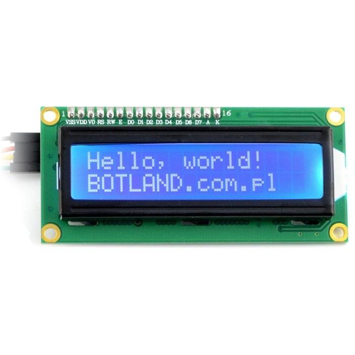 Wyświetlacz LCD z konwerterem