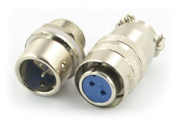 Złącze przemysłowe ZP2 z szybkozłączem.