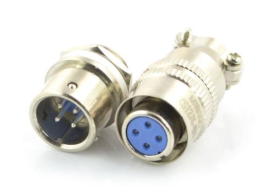 Złącze przemysłowe ZP2 z szybkozłączem - 4-pinowe.