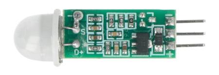 Czujnik ruchu PIR HC-SR505 - wyprowadzenia
