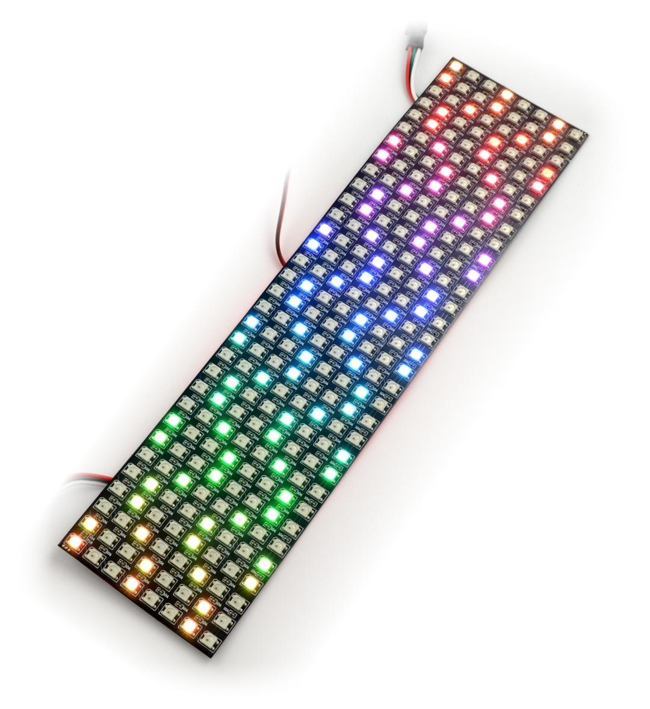 Elastyczna matryca 8x32 - 256 LED RGB - WS2812B indywidualnie adresowane