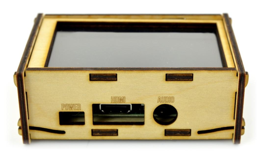 Obudowa do Raspberry Pi 3/2 i ekranu 4'' - drewniana