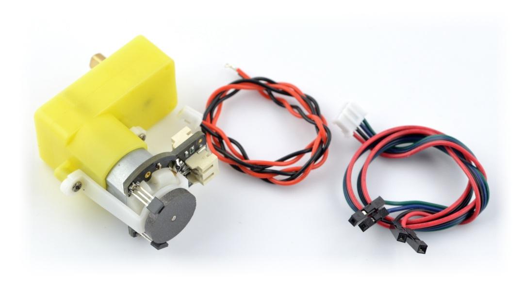 Silnik kątowy z przekładnią SJ02 120:1 6V 160RPM + enkoder