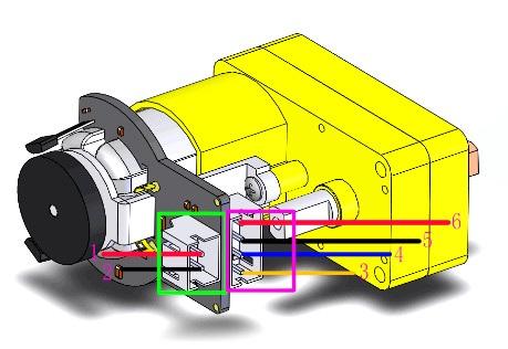 Silnik z przekładnią 120:1 6V 160RPM + enkoder SJ01