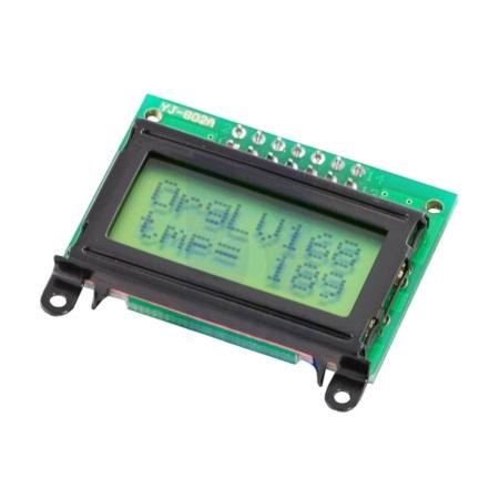 Wyświetlacz LCD 2x8 znaków zielony z czarną ramką - Pololu 356