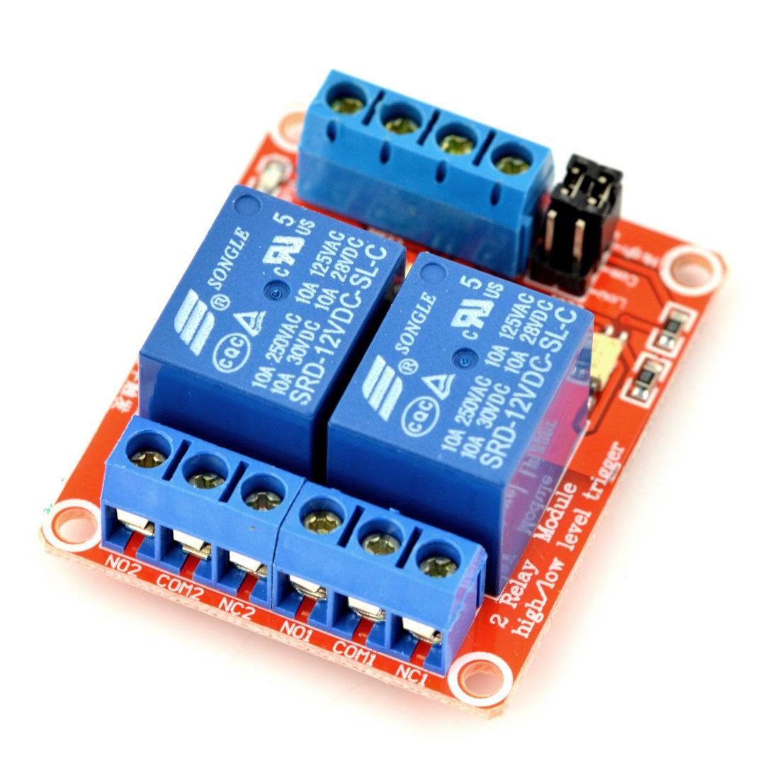Dwukanałowy moduł przekaźników H/L