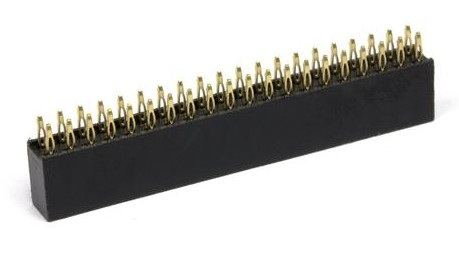 Listwa żeńska goldpin 2x20 raster 2,54mm dla Raspberry Pi - bez lutowania