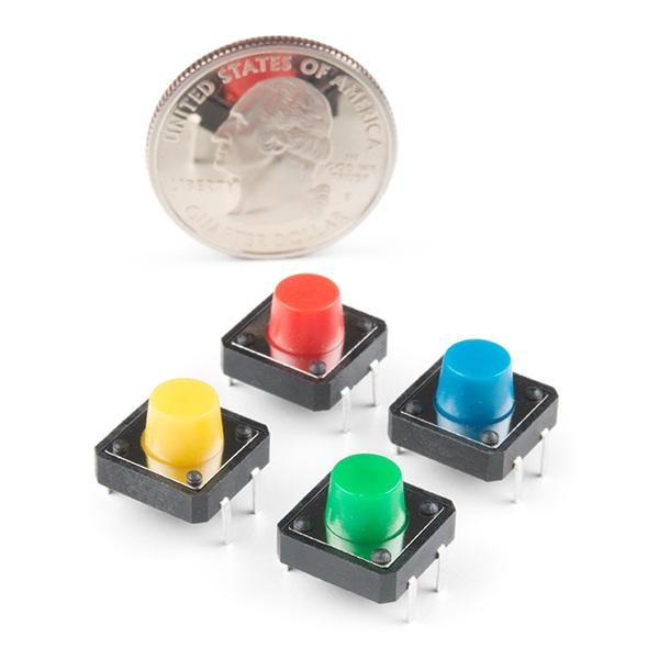 Tact Switch 12 x 12 mm - przyciski kolorowe - 4 szt