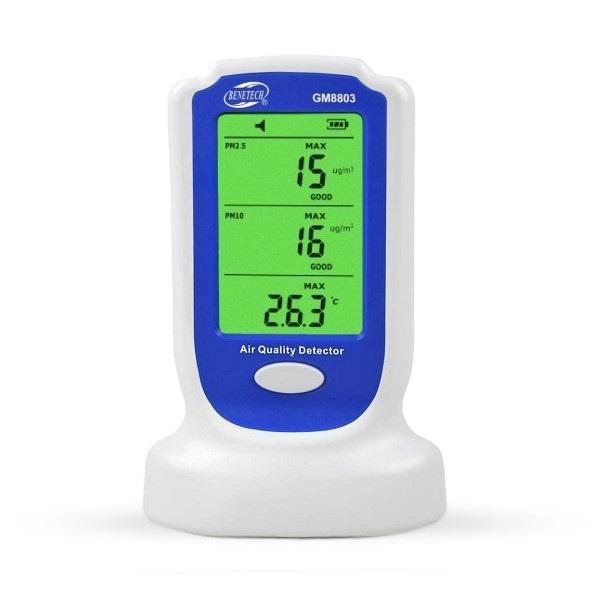Miernik jakości powietrza Benetech GM8803 PM2,5 i PM10 z wyświetlaczem
