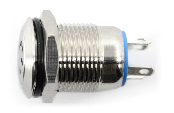 Przełącznik ON-OFF monostabilny - PBW-12BPW - 2A/250V - płaski czerwony