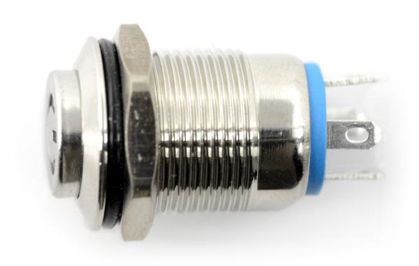 Przełącznik ON-OFF monostabilny - PBW-12BPW - 2A/250V - zielony