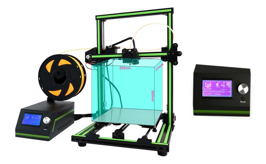 Drukarka 3D Anet E10 - rozmiar wydruku i wyświetlacz