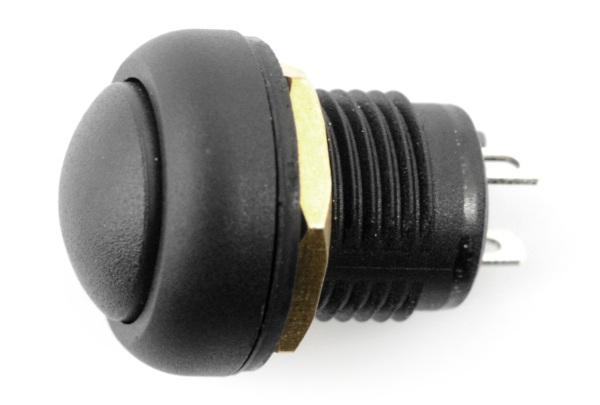 Przełącznik ON-OFF bistabilny 12mm - 5A/250V- okrągły - czarny