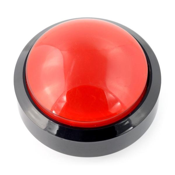 Push Button 6cm - czerwony