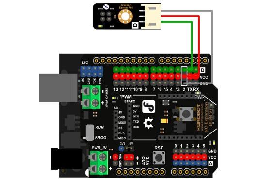Cyfrowy czujnik śledzenia linii, odbiciowy dla Arduino - DFRobot Gravity