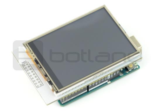 Wyświetlacz LCD 2,8'' 320x240px z czytnikiem kart microSD - nakładka na Arduino