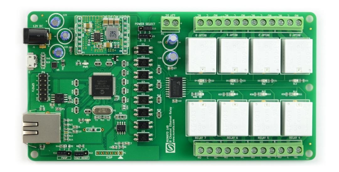 Numato Lab - 8-kanałowy moduł przekaźników - Ethernet