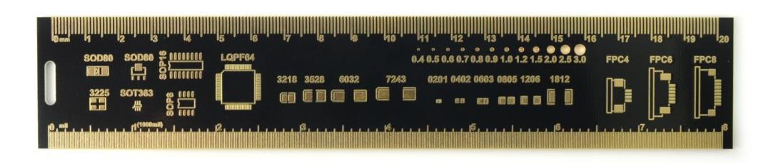 Linijka PCB