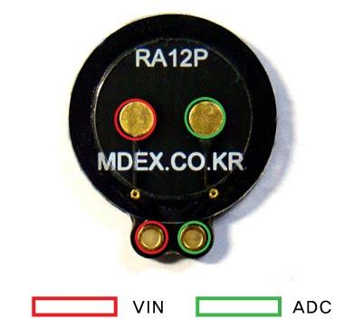 Wyprowadzenia czujnika RA12P
