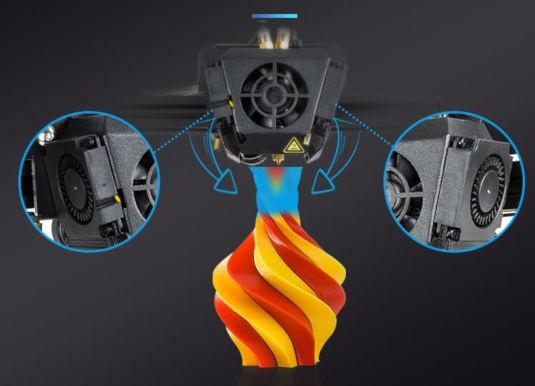 Drukarka 3D - Creality CR-X z podwójną głowica