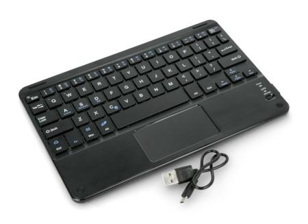 Klawiatura bezprzewodowa Bluetooth 3.0 z Touchpad - czarna - 10 cali