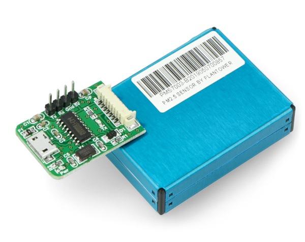Podłączenie adaptera do czujnika PMS7003