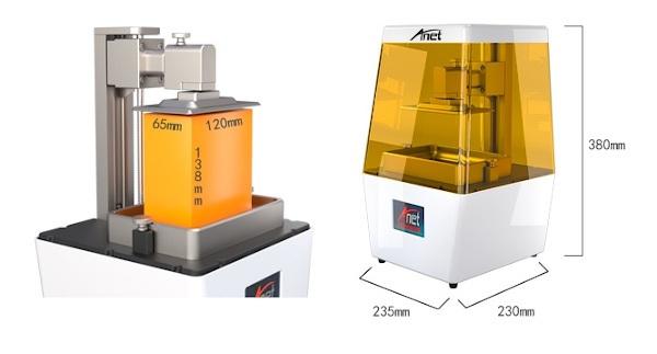 Wymiary drukarki Anet N4