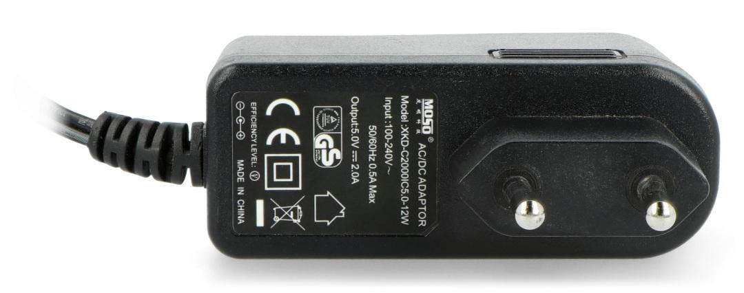 Zasilacz impulsowy 5V/2A - DC 5,5/2,5mm