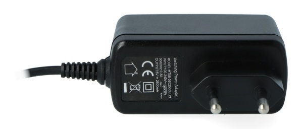 Napięcie wyjściowe zasilacza wynosi 5 V / 2,5 A.