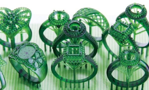 Zaawansowany tryb wydruku biżuterii.