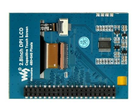 Wyświetlacz posiada wyprowadzenia GPIO do podłączenia z Raspberry Pi.
