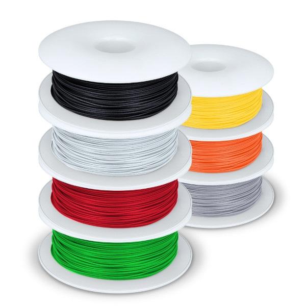 Poglądowe zdjęcie kolorów filamentów w zestawie
