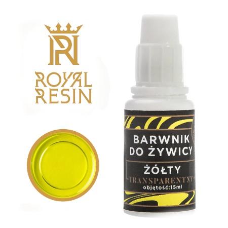 Barwnik do żywicy epoksydowej w kolorze żółtym.