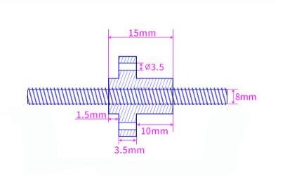 Szczegółowe wymiary śruby trapezowej