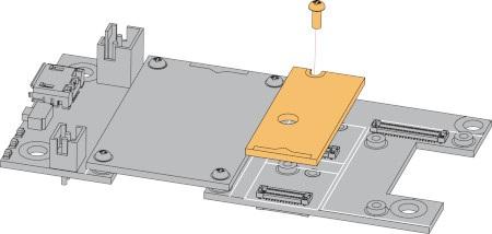 Sposób montażu czujnika z płytką bazową.
