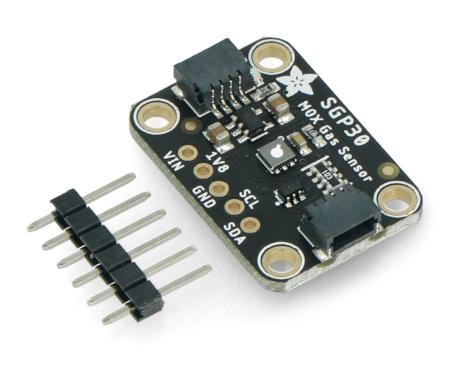 Moduł wykorzystuje magistralę I2C do komunikacji z modułem kontrolera.