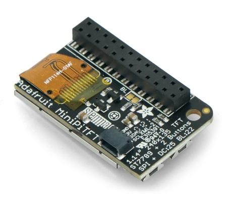 Moduł został wyposażony w złącze STEMMA QT / Qwiic, które umożliwia szybkie i wygodne podłączenie wyświetlacza.