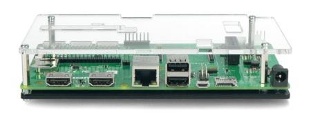 Obudowa do Raspberry Pi CM4IO - przezroczysta otwarta