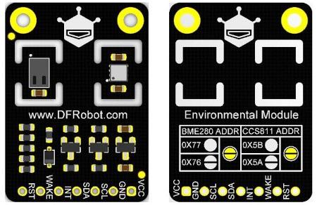 Czujnik posiada wyprowadzenia w postaci pól lutowniczych, które umożliwiają połączenie go z modułem kontrolera.