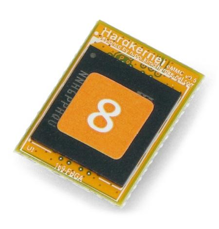 Pamięć eMMC o pojemności 8 GB z fabrycznie zainstalowany systemem Linux.