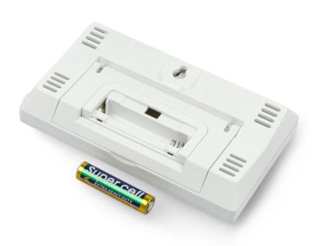 Urządzenie zasilane jest przy użyciu pojedynczej baterii AAA. Odpowiednia bateria została dołączona do zestawu.